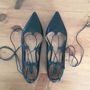 Topshop Shoes - Topshop Kingdom Ghillie pointed shoes